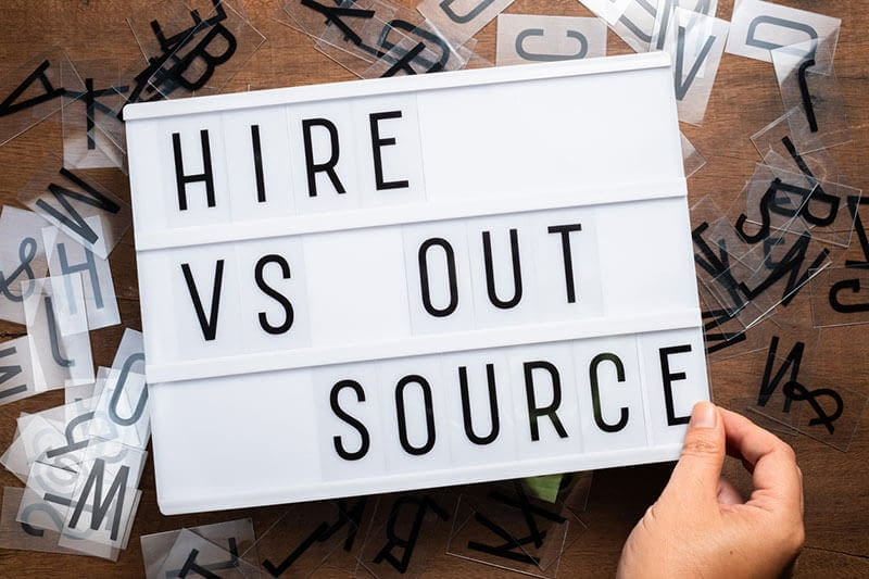 Hire versus outsource