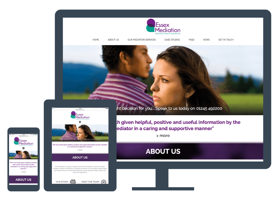 mediation responsive website