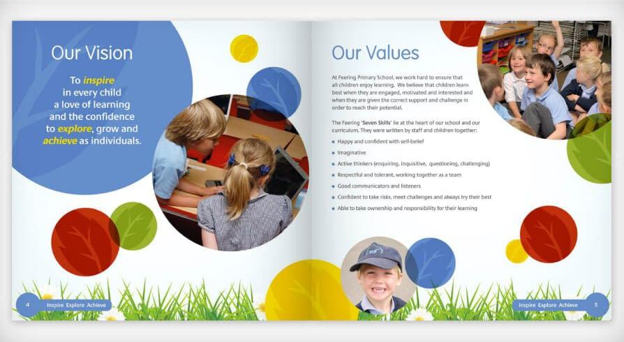 School prospectus and brochure design