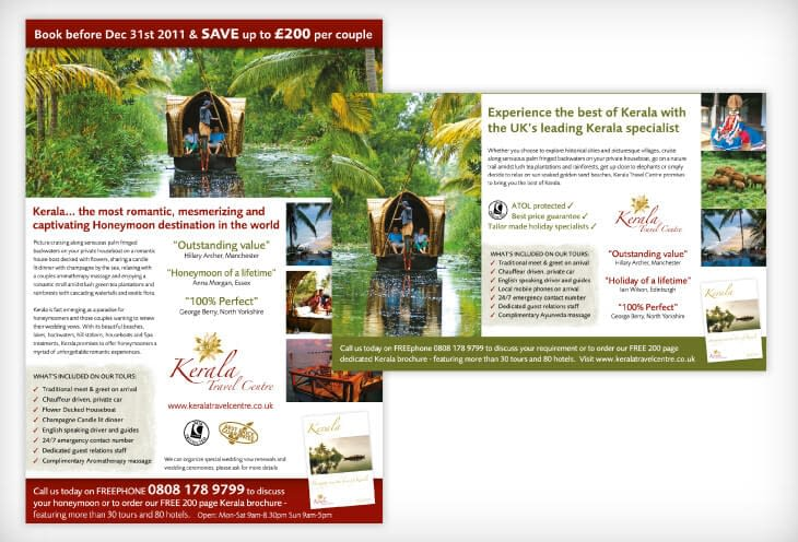 travel press advertising design