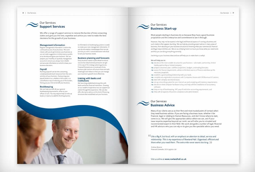 accountants brochure design