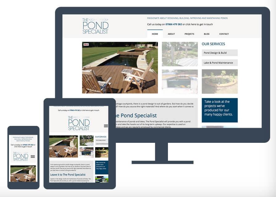 The Pond Specialist website-Exubra