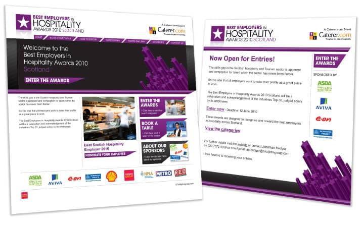 Best Employers in Hospitality Awards Website